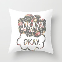 OKAY?OKAY THE FAULT IN OUR STARS TFIOS HAZEL AUGUSTUS CLOUDS #2 Throw Pillow by monalisacried
