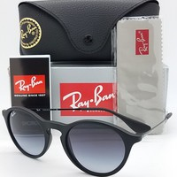 NEW Rayban Sunglasses RB4243 622/8G 49 Black w/ Grey Gradient NIB round 4243
