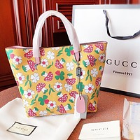 GUCCI Hot Sale Women Shopping Bag Leather Mini Handbag Tote Satchel