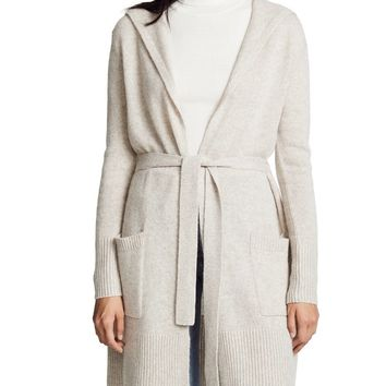 Luxe Hooded Cashmere Cardigan