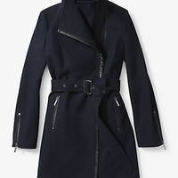 Faux Leather-Trimmed Wool and Cashmere Coat | Michael Kors