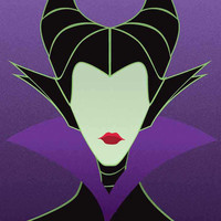 Maleficent - Sleeping Beauty / Disney Villains Inspired - Movie Art Poster
