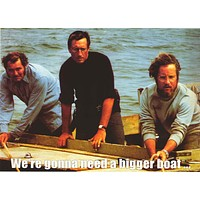 Jaws Bigger Boat Movie Cast Poster 24x33