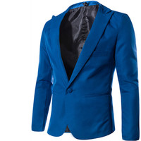 Han edition suits in the spring of 2015 the new men's fashion Cultivate one's morality personality small suit jacket