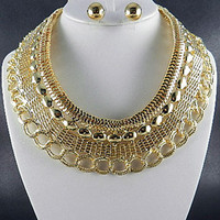 Jewelry by Justbella's FASHION GOLD EGYPTIAN METAL CHOKER SET