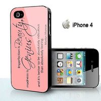 marilyn monroe quotes beauty  - for iPhone 4 case, iPhone 5 case, Samsung S2, Samsung Galaxy s3 and Samsung Galaxy s4