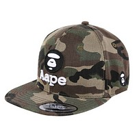 Bape Aape New fashion embroidery letter pattern camouflage couple cap hat