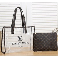 LV Louis Vuitton Hot Sale Women Leather Handbag Tote Shoulder Bag
