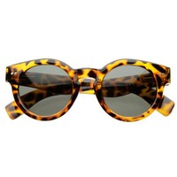 zeroUV - Vintage Inspired Bold Circle Round Sunglasses w/ Key-Hole Bridge