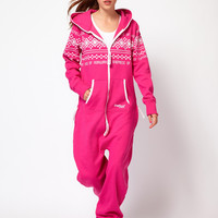 Onepiece Nordic Pattern Extra Cosy Onesuit at asos.com
