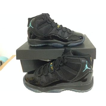 Air Jordan 11 black/ Gamma blue Basketball Shoes 36-40
