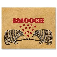 Romantic Smooch Wood Folding Card