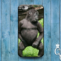 iPhone 4 4s 5 5s 5c 6 6s plus iPod Touch 4th 5th 6th Generation Cool Black Baby Gorilla Monkey Custom Animal Phone Cover Funny Cute Fun Case