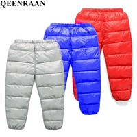 Boys Pants Girls Leggings Children Pants Girls Winter Children Down Warm Trousers Baby Autumn kids Boys Child Clothes