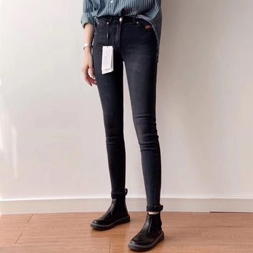"""""""Calvin Klein Jeans"""" Women All-match Fashion Stretch Tight Jeans Trousers Slim-fit Pants"""