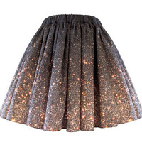 Stardust Galaxy Ombre Skirt  Short by Shadowplaynyc on Etsy