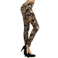 Baroque Me Again Design Print Leggings