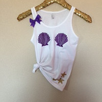 Mermaid Bra Tank - KID SIZE - Ruffles with Love - Fashion Tee - Graphic Tee