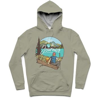 The Journey Trendy All-Over Print Solid Lemon Grass Hoodie