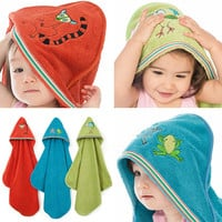 Baby & Toddler Organic Hooded Towel - Rain Forest Collection