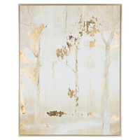 Frosted Forest Trees Framed Canvas Wall Art   Hobby Lobby   1310077