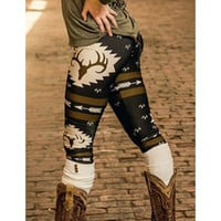 Women's Deer Printed Leggings