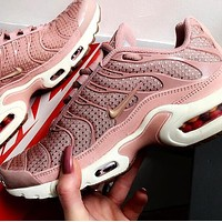 Nike Air Max Plus 97 Popular Women Comfortable Air Cushion Sports Running Shoe Sneakers Sakura Pink I-CSXY