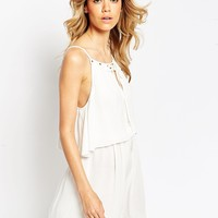 ASOS Sundress with Tie Front and Double Layer