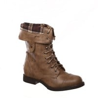GI Womens Chess-3 Military Combat Boot Fold-over Cuff with Zipper