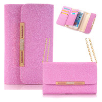Wallet Bag Phone Case for Apple iPhone 7 With Chain