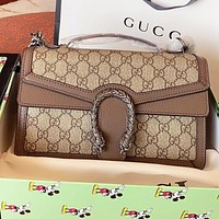 GUCCI New fashion more letter leather chain shoulder bag handbag crossbody bag