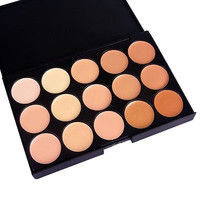 15 Colors Professional Makeup Eyeshadow Camouflage Facial Concealer Neutral Palette Cream = 1946497988