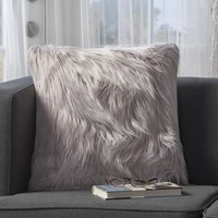 Carice Furry Deco Throw Pillow