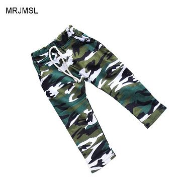 Cotton children harem pants for baby boys camouflage trousers kids child casual pants blue green army camo
