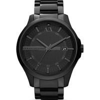 Armani Exchange Black Stainless Steel Watch, 46mm