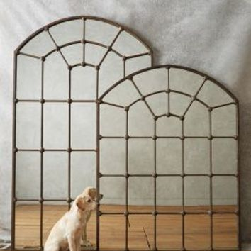 Paneled Epoque Mirror by Anthropologie Brown