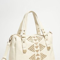 Street Level 'Oversized' Studded Faux Leather Tote   Nordstrom