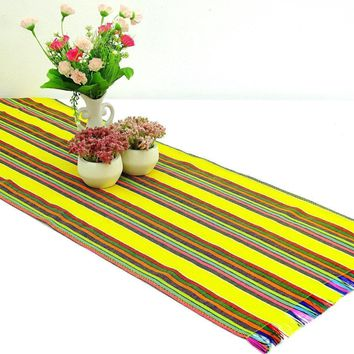 Mexican table runner, Yellow Table runner 14x72 Inches, Fiesta Decoration, Cinco de Mayo, Boho Chic Decor, 14X72TRC165