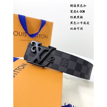 lv louis vuitton womens mens fashion smooth buckle belt leather belt monogram leather belt 33