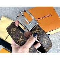 Louis Vuitton LV tide brand retro presbyopia men and women models wild belt silver