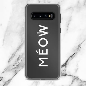 Meow Feline Couture Transparent Samsung Case