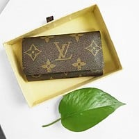 Hipgirls Louis Vuitton LV Fashion New Monogram Print Wallet Key Case Bag