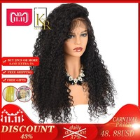 Cool Curly Lace Front Human Hair Wigs For Women Brazilian Remy Black Lace Wig 150% Density Pre Plucked With Baby Hair King Rosa QueenAT_93_12