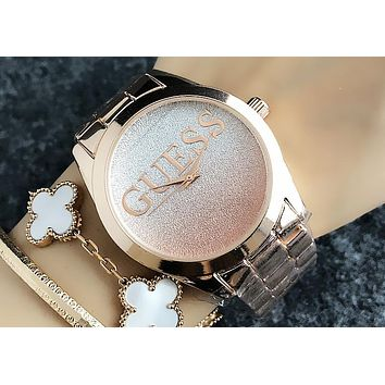 GUESS 2018 new waterproof fashion men and women couple watches F-H-JH 7