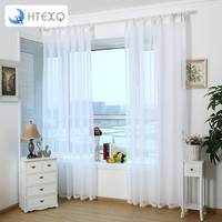 HTEXQ Price by Piece Quality white all-match window sheer curtain, tulle