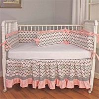 Chevron Pink Crib Bedding Set