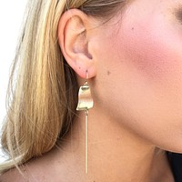 Christen Brass Plate Drop Earrings