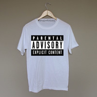 Parental Advisory Explicit Content - White