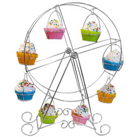 Evelots® Ferris Wheel Cupcake Stand,Durable,Decorative & Holds 8 Cupcakes, Silver