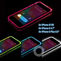 Cheap High Quality TPU+PC Flash Up Light LED Case for iPhone 5 5S Free Shipping & Dropping Shipping